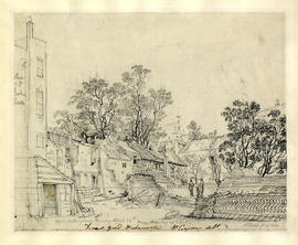 Pulling down of buildings in Dean's Yard by William Capon