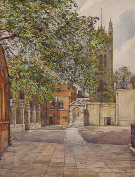 Yard, Westminster by F.W. Lee