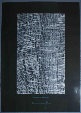 Cornish Slate Drawing by Richard Long