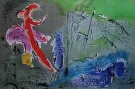 Vision of Paris by Marc Chagall