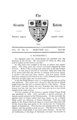 The Grantite Review Vol. VI No. 16