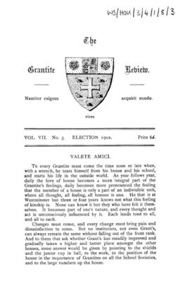 The Grantite Review Vol. VII No. 3