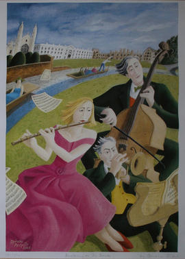Busking on the Backs by Ophelia Redpath