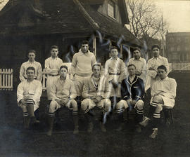 1914 College House Football Photograph