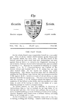 The Grantite Review Vol. VII No. 1