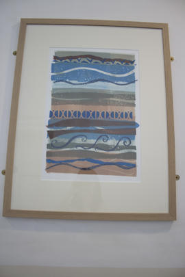 Seaside Monoprint by Chris Clarke
