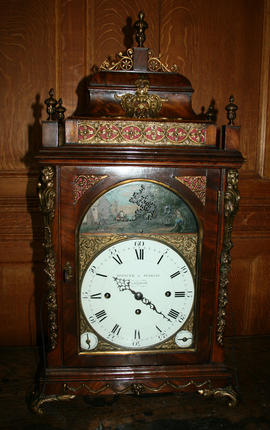 Musical table clock signed Spencer and Perkins, London