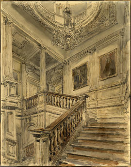 The Grand Staircase by Hanslip Fletcher