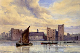 Lambeth Palace and a School Eight by A. Severn