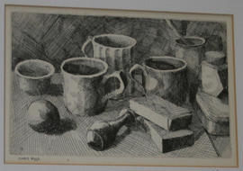 Still Life with Cups by Chris Aggs
