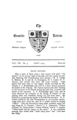 The Grantite Review Vol. VII No. 5