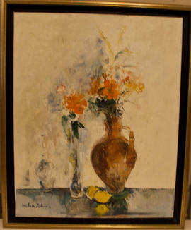 Lilies and oranges by Barbara Robinson
