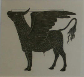 Winged Bull by Eric Gill