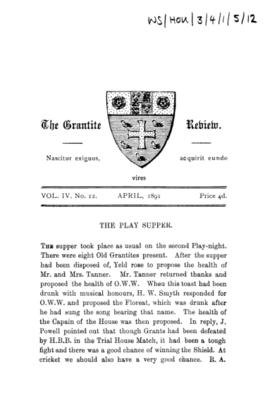 The Grantite Review Vol. IV No. 12