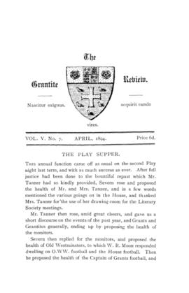 The Grantite Review Vol. V No. 7