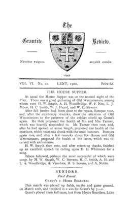 The Grantite Review Vol. VI No. 12