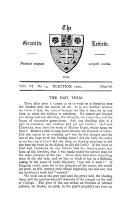 The Grantite Review Vol. VI No. 13