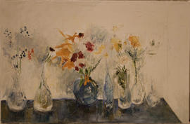 Flowers in seven vases by Barbara Robinson