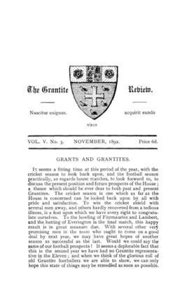 The Grantite Review Vol. V No. 3