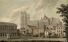 The Abbey from College Garden by John Inigo Richards