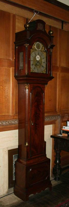 George III musical longcase clock signed Tho. Wilkinson,  London