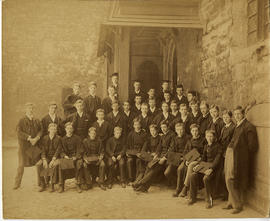 1887 College House Election Photograph