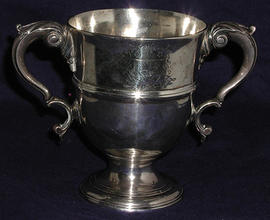 Irish George III two handled silver cup