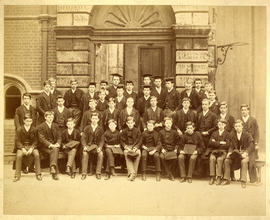 1886 College House Election Photograph