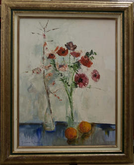 Anemones and Oranges by Barbara Robinson
