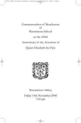 Commemoration of Benefactors Service Programme